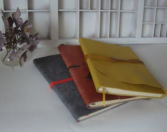 A5 Notebook Blank-assorted colors-leather-leather writing book-Diary with leather cover
