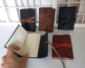 A7 leather address book - Different colors - small address book leather - address book with leather cover