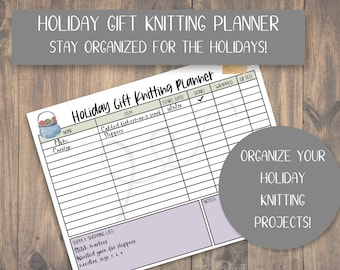 Holiday Gift Knitting Planner  Plan Your Knitting Projects For the Holidays
