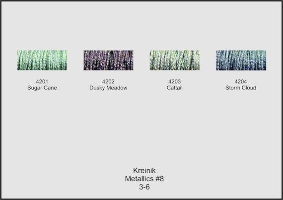 Storm Cloud 4204 Kreinik Metallics #8 Fine Braid 10 meters 1 spool