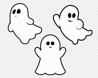 cute ghost etsy rh etsy com ghost clip art images black and white ghost clipart