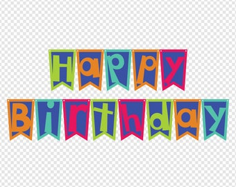 happy birthday banner digital cut file digital files happy birthday pennant svg happy birthday dxf happy birthday svg birthday eps