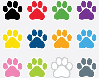 Paw Print Rubber Stamp - Dog Paw Print Png Clipart (#4210998) - PinClipart