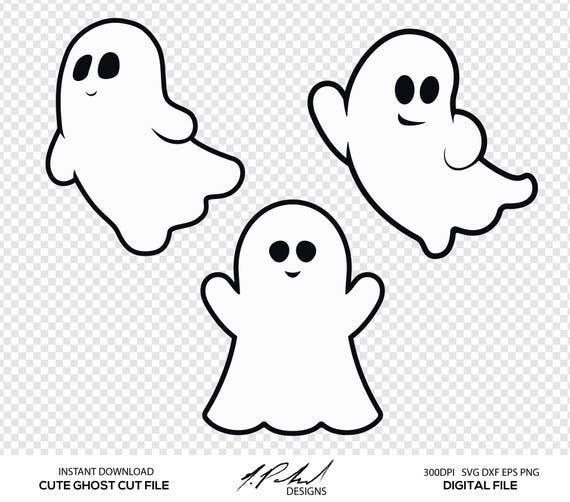 cute ghost digital cut files digital files ghost svg etsy rh etsy com Cute Bat Clip Art Cute Bat Clip Art