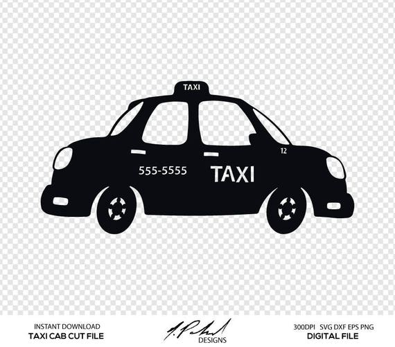 Taxi Cab Cut File Digital Files Taxi SVG Taxi DXF Taxi | Etsy