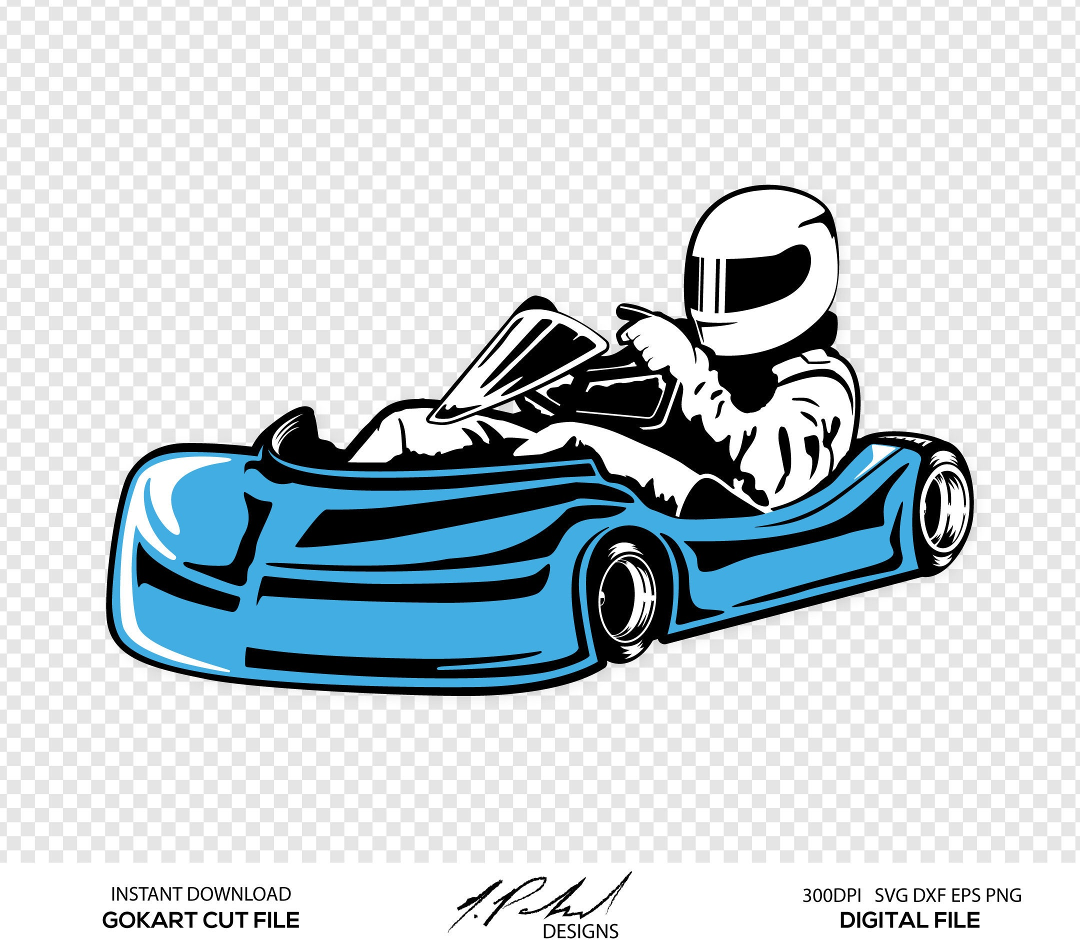 GoKart Digital Cut Files Digital Files GoKart SVG Go | Etsy