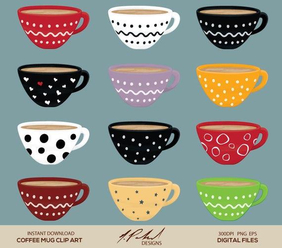 coffee mug digital clip art digital file cute coffee cup clipart cute coffee mug clipart coffee shop clip art digital art png and eps by npolanddesigns catch my party coffee mug digital clip art digital