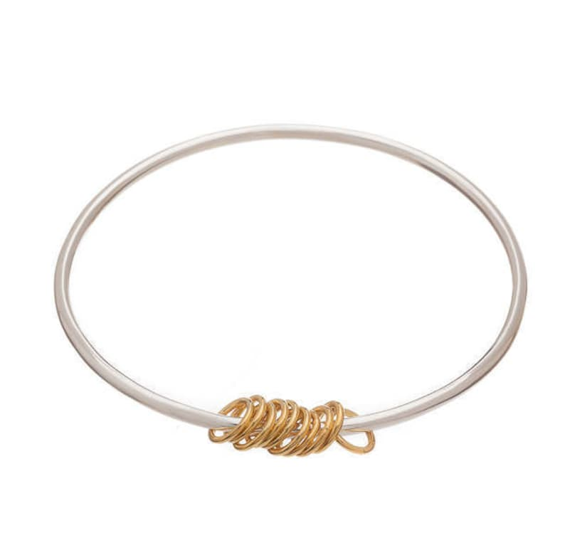 Rose gold Simple bangles Rings bangle Stacker bangle Women/'s bangles Silver bangles Good luck Sterling Silver Lucky Ring Bangle Gold