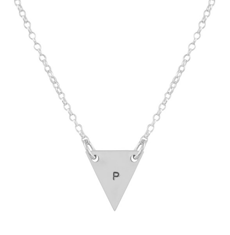e4773f6d2 Triángulo colgante personalizado de plata | Etsy