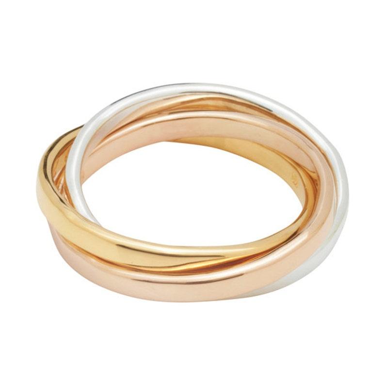 709071f06c75 Tricolor Russian Ring Personalizado de plata oro rosa y oro