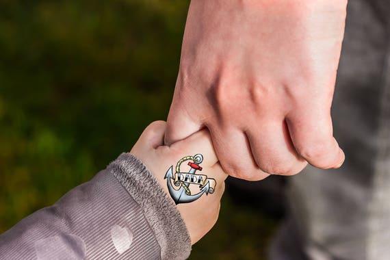 Favoriete Vader zoon cadeau Marine vaders dag tatouage lichaam sticker | Etsy @UE95