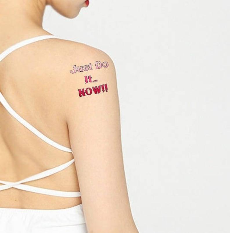 2 Tymczasowy Tatuaż Mama życie Obecne Różowy Tylko Zrobić To Teraz Fałszywy Tatuaż Unisex Tatuaż Tatuaż Litery Inspiracji Prezent Dziewczyna