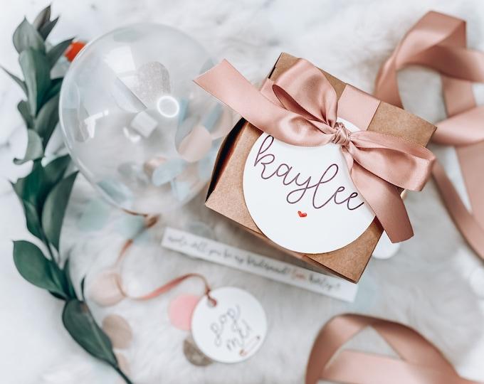 Featured listing image: Bridesmaid Proposal Box - Pop me balloon - will you be my bridesmaid - bridesmaid proposal balloon - bridesmaid gifts- bridesmaid box -1 box