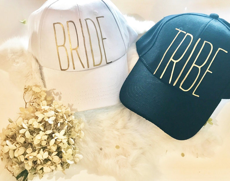 Customizable Bridal Party Hats for wedding day or bachelorette image 0