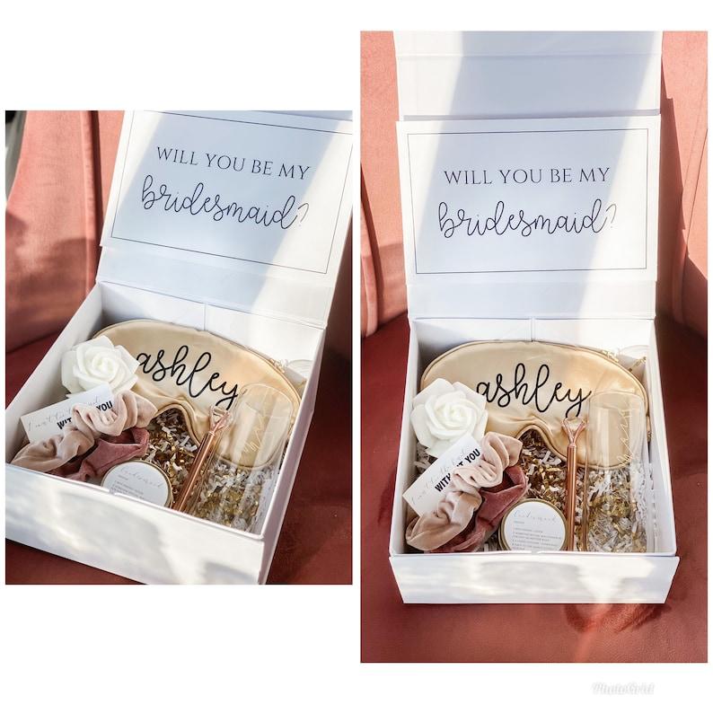 Bridesmaid Proposal Box Set  Personalized Bridesmaid Gift Box image 0