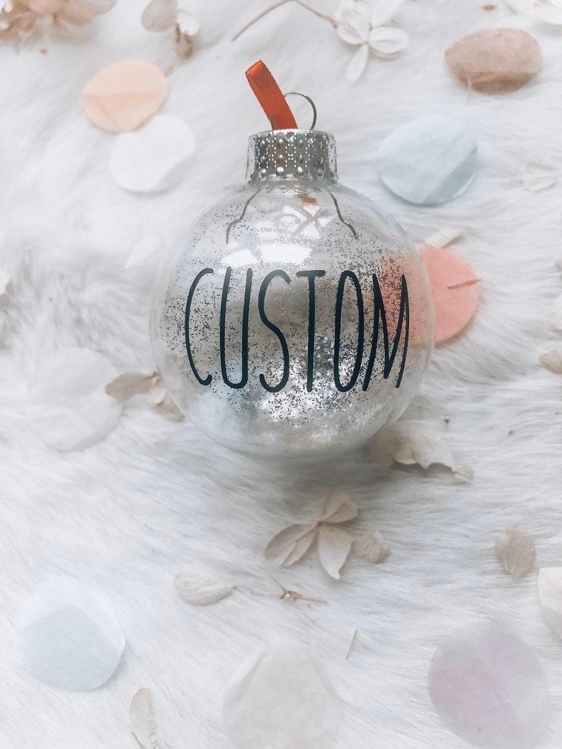 Custom Christmas Ornaments set of 4 image 0