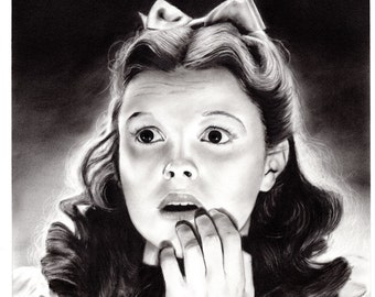 Dorothy - Original  11x14 Graphite Drawing by 70ms