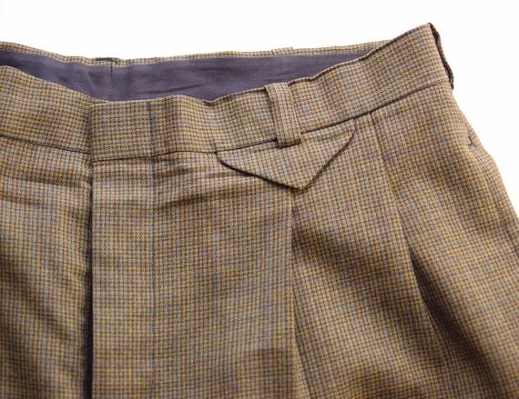 Vintage Plaid Trousers circa the 60's