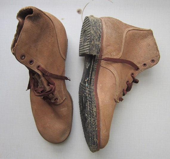Vintage U S Navy Deck Boots circa the 40's