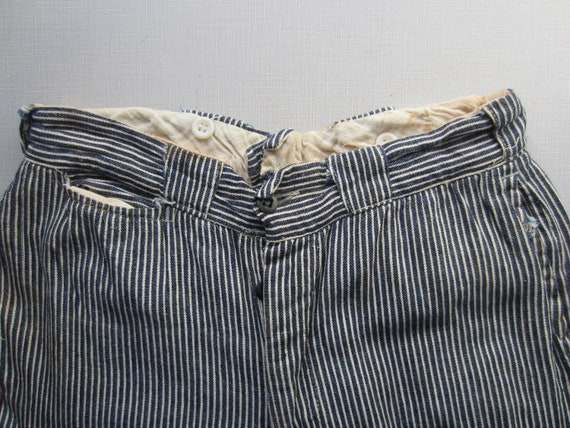Vintage Hickory Striped Denim Pants circa the 40's