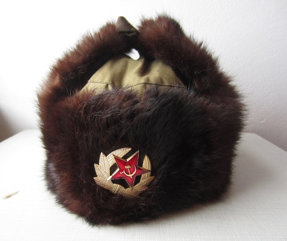 Vintage Russian Winter Hat circa the 50's