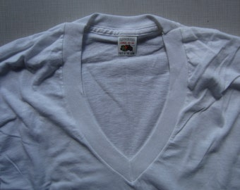 Vintage Fruit of the Loom V Neck circa the 80's