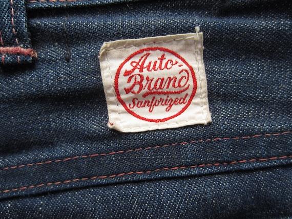 Vintage Auto Brand Jeans circa the 40's