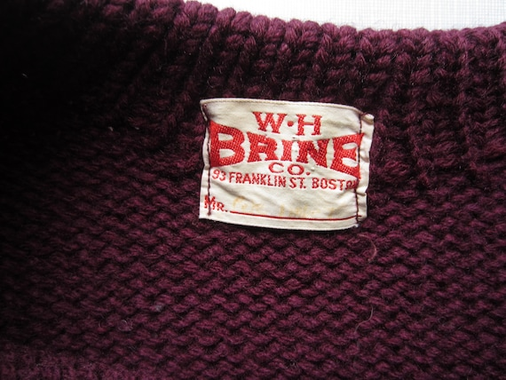 W H Brine Collegiate Sweater circa the 40's