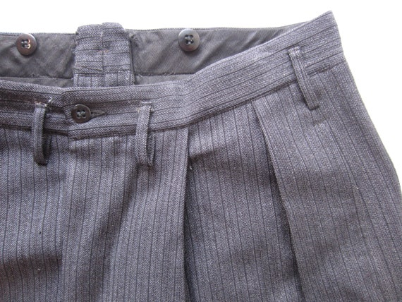 Vintage Salt and Pepper Stripe Trousers circa the