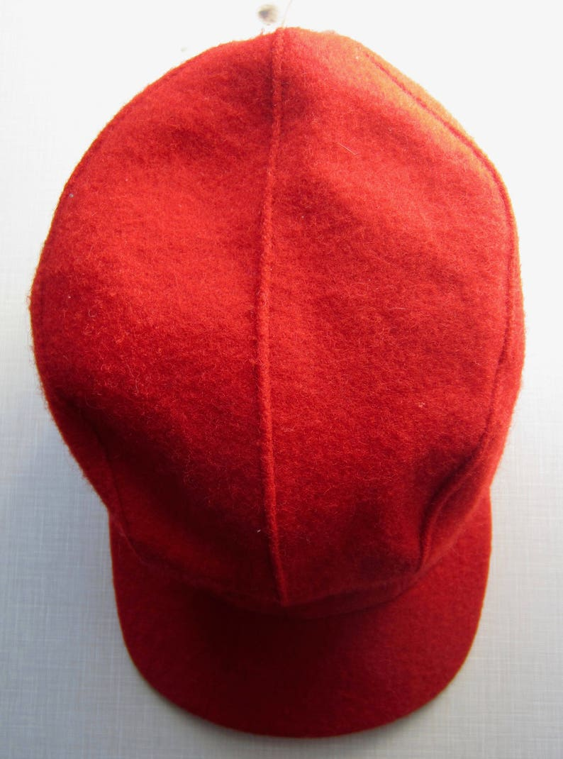 4f22a10e0 Vintage Red Wool Hunting Cap circa the 50's