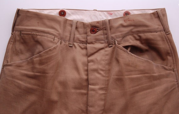 Vintage Cotton Twill Trousers circa the 40's