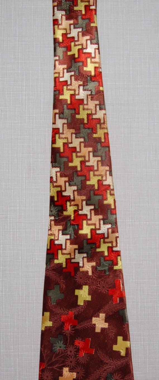 Vintage Rainbow Hues Rayon Tie circa the 40's