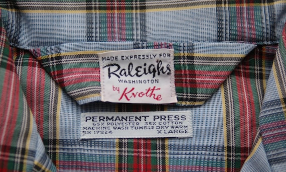 Vintage Raleigh Plaid Pajama Set circa the 60's