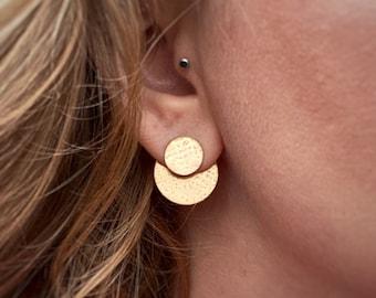 Brass Disc Ear Jacket Set