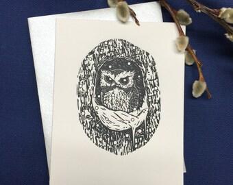 SNOWY OWL - Letterpress Card
