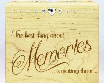 Wooden Memory Box - Maple - Memory Box - Engraved