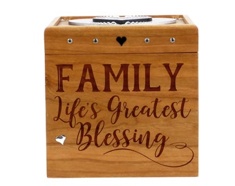 Wooden Memory Box - Cherry - Memory Box - Family
