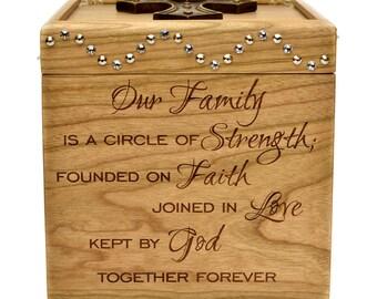 Wooden Memory Box - Cherry - Memory Box - Engraved