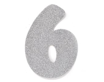 Foam Numbers White 12 Inches Number -4