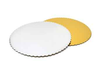 "10 x 8/"" Inch Round Gold Cake Board 3mm FREE SHIPPING"