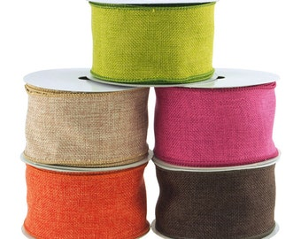 1-1//2-Inch Variation Hex Wired Printed Canvas Ribbon 10-Yard