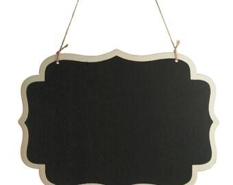 Hanging Chalkboard Sign, Fancy Border, 10-1/4-Inch