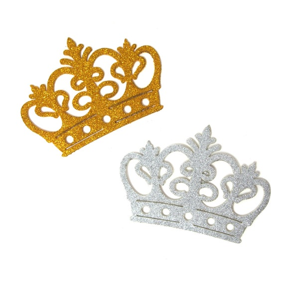 Small Crown Metal Charms 3//4-Inch 36-Count