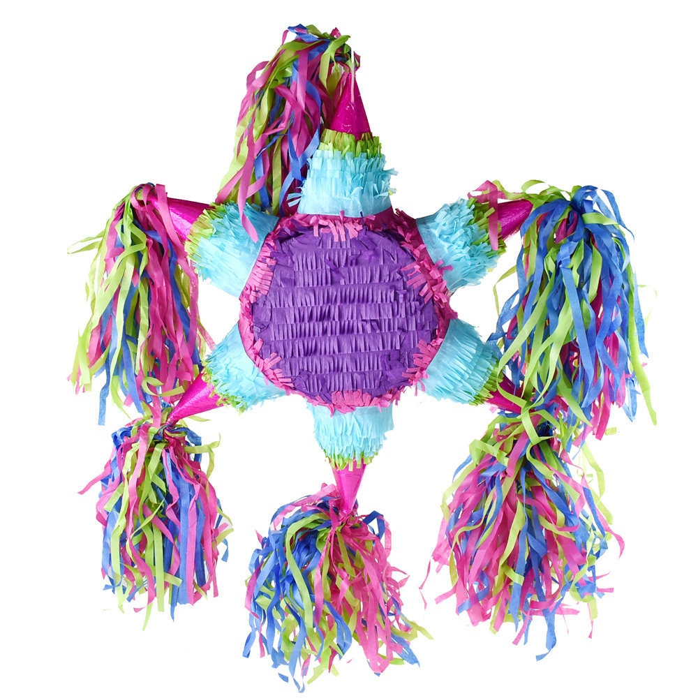"""16-Inch Multi Color Colorful /""""Happy Birthday/"""" Star Pinata"""