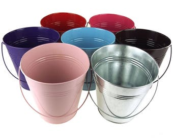 Metal Pail Buckets Party Favor, 7-Inch