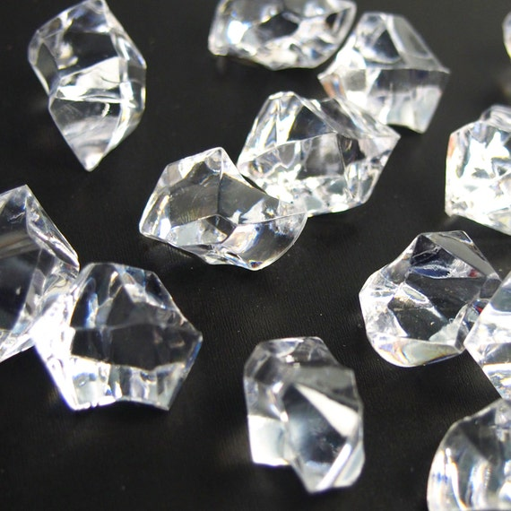 Acrylic Ice Rocks Crystal Table Scatter Vase Filler 1 Inch Etsy