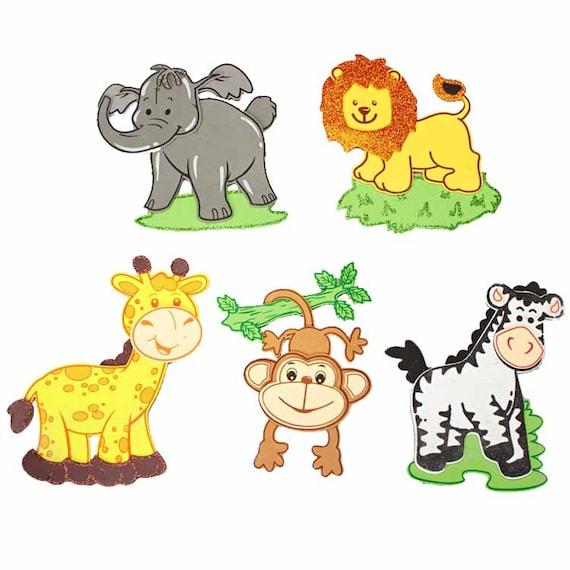 Decoracion De Baby Shower De Animales.Safari Animales Espuma Decoracion Baby Shower 5 Pares Grandes