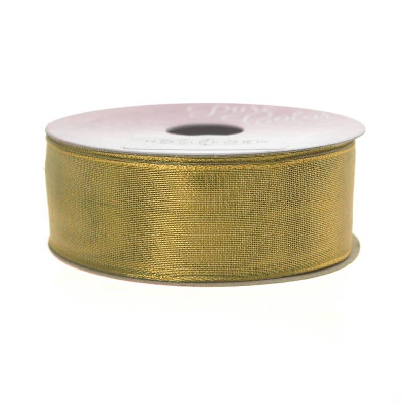 1-Inch 5 Yards Luxor Metallic Ribbon Wired Edge
