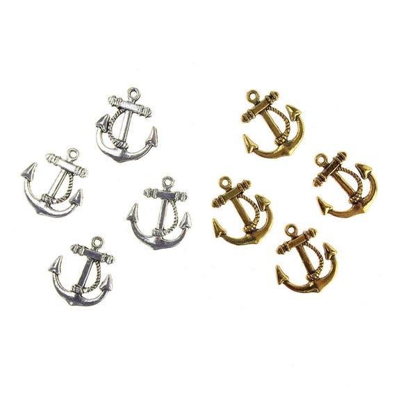 3//4-Inch Metal Nautical Anchor Charms 36-Count