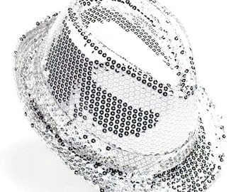 Party Top Hat with Sequins, 5-1/2-inch